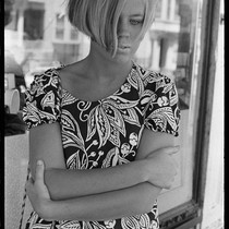 Depressed young girl, Haight-Ashbury 1967