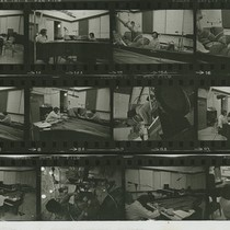Ping: CRI recording session: Contact sheet showing various images of Ping recording ...