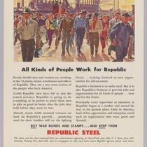 All kinds of people work for Republic: Republic Steel