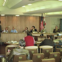 Marin County Parks Planner David Hansen presents the Parks Commission with proposals ...
