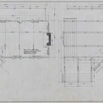 Community Club Foundation and Floor Plan Hammond Lumber Co. Samoa Calif