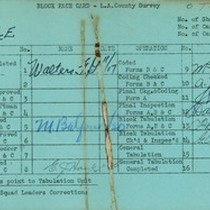 WPA block face card for household census (block 1138E) in Los Angeles ...