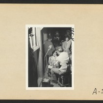 Poston, Ariz.--(Site No. 1) Evacuees of Japanese ancestry are given a preliminary ...