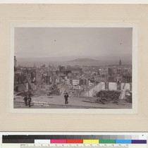 14. From Nob Hill. [Panoramic view, showing Hall of Justice (center), Ferry ...