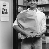 Man at San Francisco AIDS Foundation Food Bank