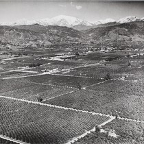 Aerial view of the City of Glendora, 1941