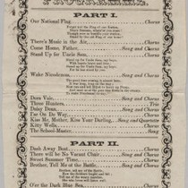 1865 School Fundraising Concert at Armory Hall