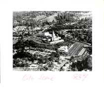 Aerial view of Church of Jesus Christ of Latter-Day Saints, Lincoln Avenue, ...