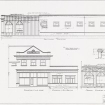 Addition To Store Front and Side Elevation also Framing Elevations Hammond Lumber ...