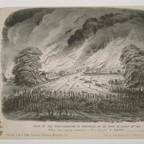 View Of The Conflagration Of Marysville, On The Night Of August 30th ...