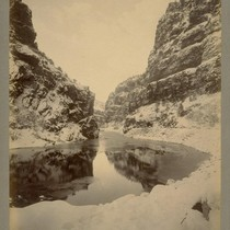 Canon of the Grand River, near Glenwood Springs [Colorado]. D. & R.G.R.R. ...
