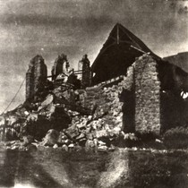 The Church of the Assumption, in Tomales, after the earthquake of April ...