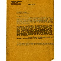 Letter from Francisco Venegas to Miguel Venegas, January 27, 1932