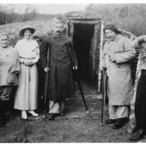 Perry Handley and others in the trenches in France