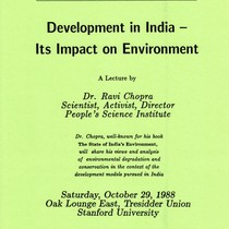 Development in India - its impact on environment