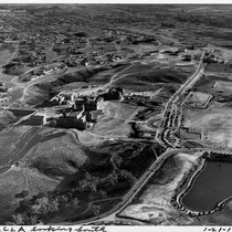 Aerial view of UCLA and Westwood Village, 1930