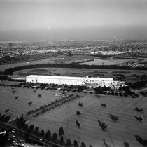 Aerial view of Hollywood Park Race Track