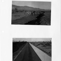 Concrete conduit work on Los Angeles Aqueduct near Mojave