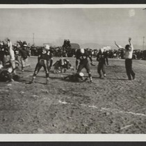 First touchdown was scored by Topaz team in football game with Fillmore ...
