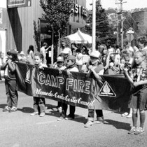 75th Anniversary parade--Camp Fire Girls