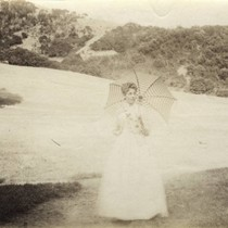 Visitor at the Blithedale Hotel, Mill Valley, circa 1889 [photograph]