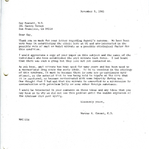 Marcus Conant letter to Guy Everett