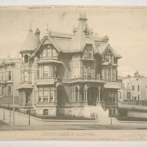 Residence of Mr. Charles Holbrook, N. W. Cor. Van Ness Avenue and ...