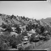 Hillside view of Chavez Ravine