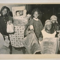 Halloween Parade. (Left to right) Christine Montgomery (11), Darrell Coleman (9), Cheryl ...