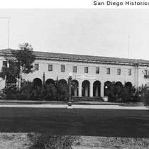 Exterior of the San Diego Natural History Museum before it acquired its ...