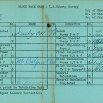 WPA block face card for household census (block 1137) in Los Angeles ...