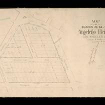 Map of Blocks 23, 24, and 25, Angeleno Heights, Los Angeles, California, ...