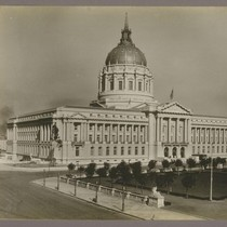 [City Hall and Civic Center Plaza, from southeast.]