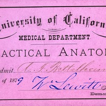Practical Anatomy lecture admission ticket