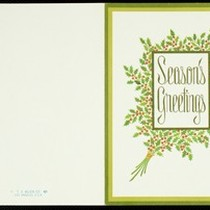 Christmas card from Eileen Chang to C.T. Hsia, ca. 1977