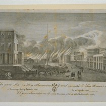 The great Fire in San Francisco in the morning of the 17 ...