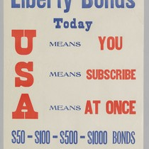 Buy Liberty Bonds Today, U means you: S means subscribe: A means ...