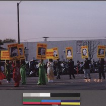 Human rights marchers in the Tet parade, Westminster, California