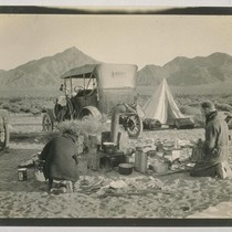 A camp site on the desert