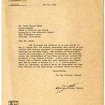 Correspondence from Assistant Attorney General Tom C. Clark to Frank Herron Smith ...