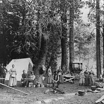 Camping in Yosemite, circa 1890