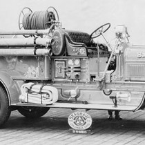 The 1925 Segrave fire engine. It