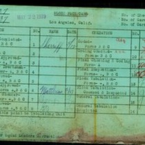 WPA block face card for household census (block 937) of 11th, 12th, ...