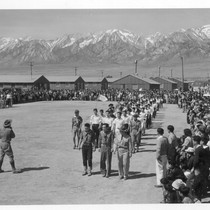 Manzanar, Calif.--Memorial Day services at Manzanar, a War Relocation Authority center where ...