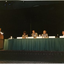 John Greenspan speaking at the Sixth International Conference on AIDS