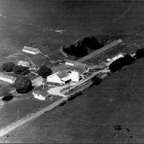 Aerial photograph of an unidentified Sonoma County dairy ranch , Sonoma County, ...