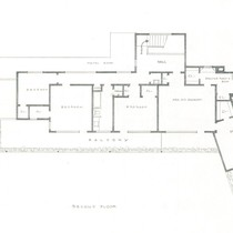 Thomas Mann House: second floor plan