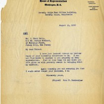 [Copy of John F. Dockweiler letter to J. Paul Getty, 11 August, ...