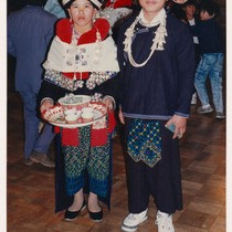 Iu Mien bride and groom, Oakland