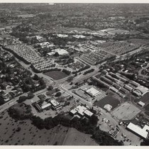 Aerial photograph, West Valley College from northwest, 1986